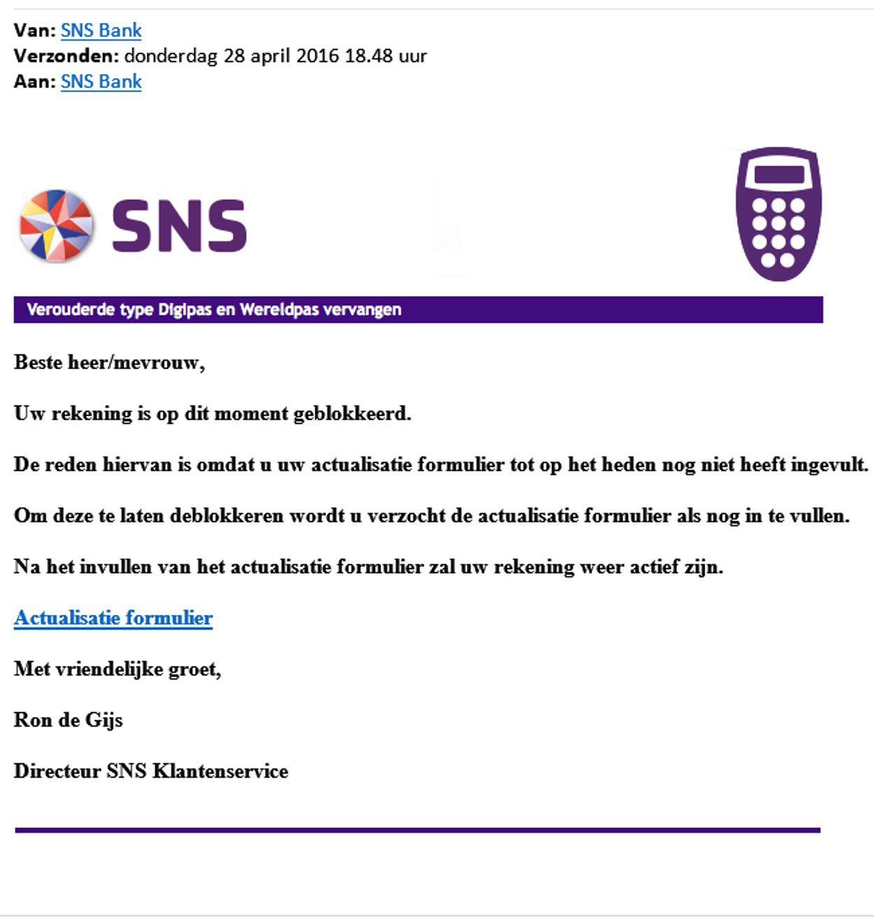 SNS-Uw-rekening-wordt-op-dit-moment-geblokkeerd phishing
