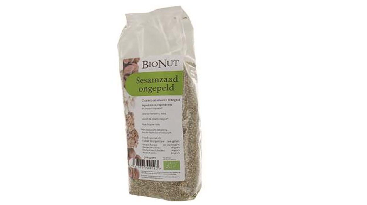 Afbeelding van Sesamzaad van BioNut besmet met salmonella