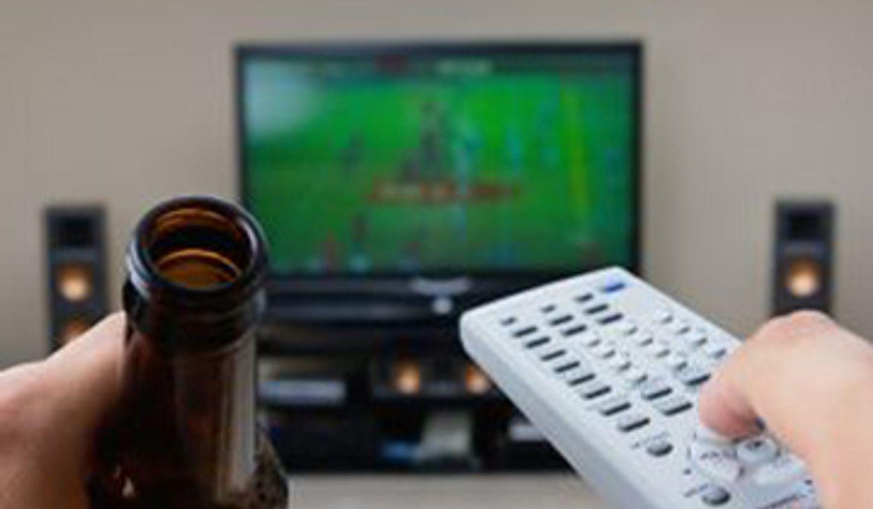 Afbeelding van Voetballiefhebber wil nieuwe tv en veel bier