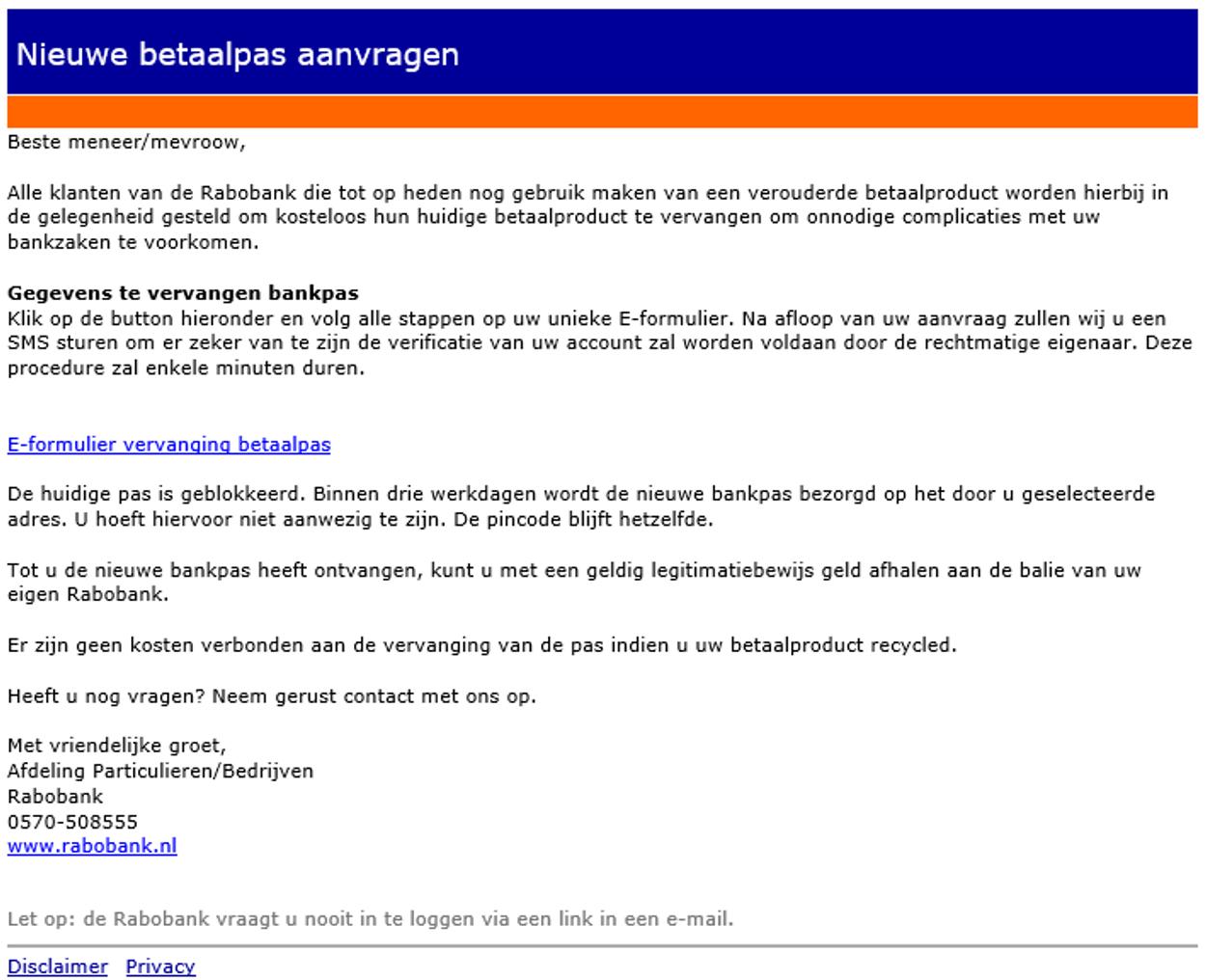 phishing rabobank 10-19