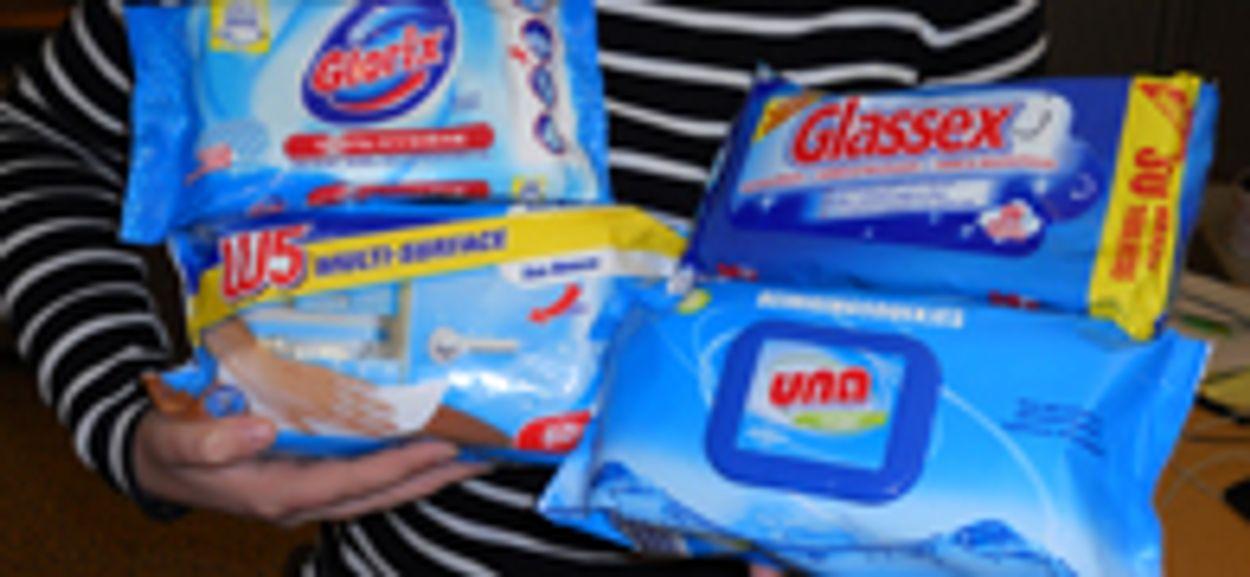 Afbeelding van Test: schoonmaakdoekjes