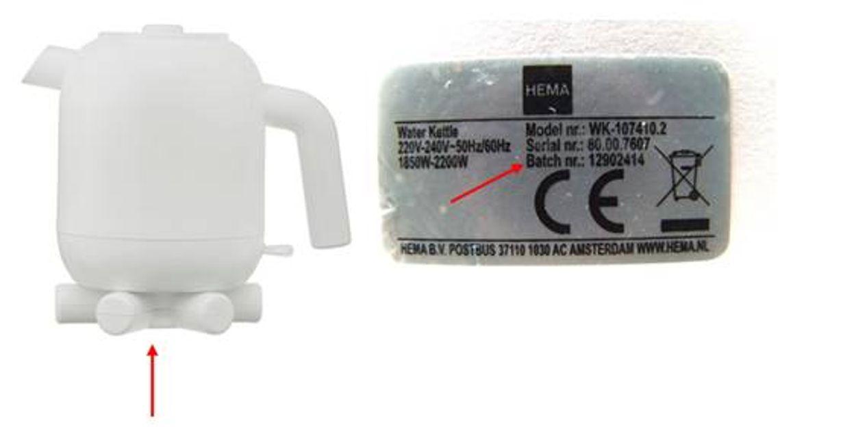 Afbeelding van Productwaarschuwing: Waterkoker Ketelbinkie van HEMA