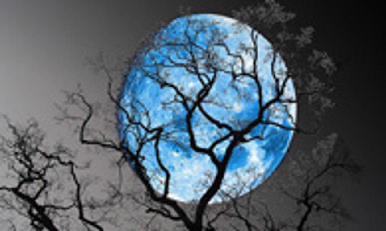 Afbeelding van Blauwe maan tijdens de jaarwisseling