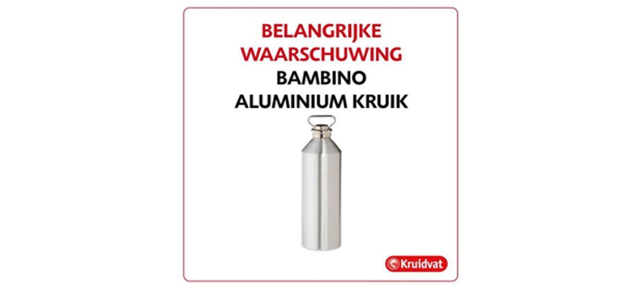 Afbeelding van Veiligheidswaarschuwing aluminium kruik Kruidvat