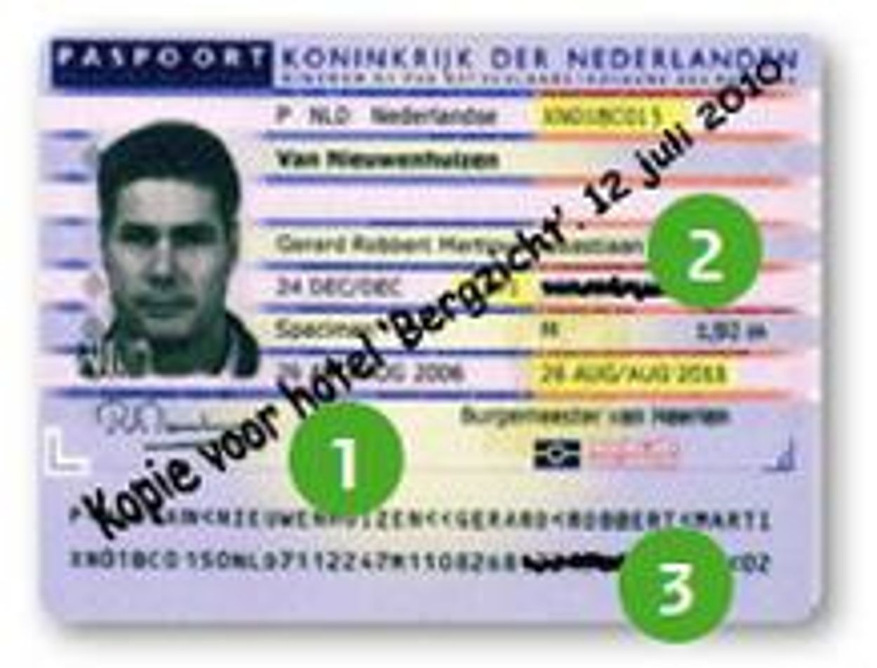 kopie paspoort