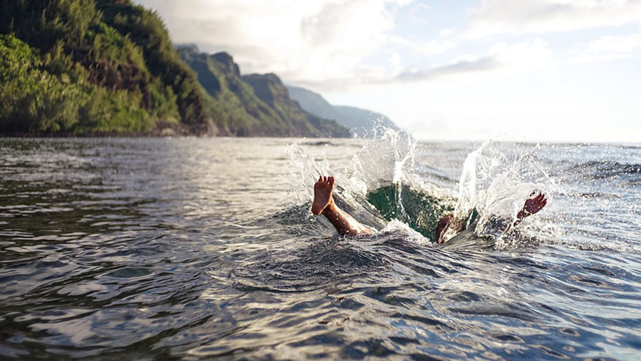 Afbeelding van 'Ga alleen zwemmen op officiële zwemlocaties. Waterkwaliteit neemt af'