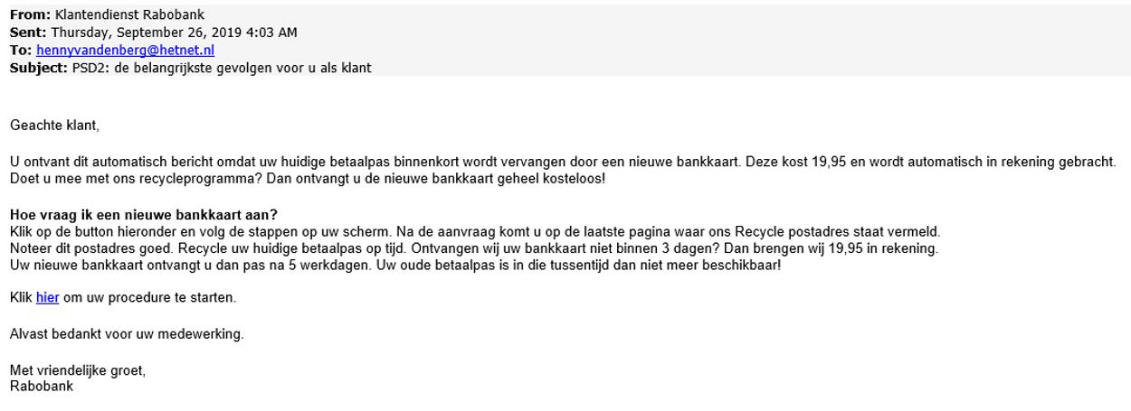 Rabobank phishing 3