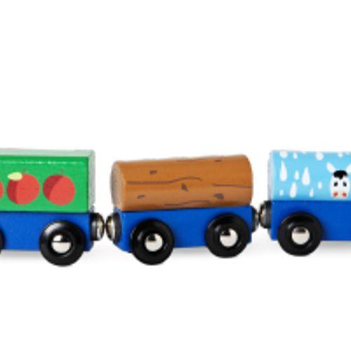 Afbeelding van Productwaarschuwing: Houten trein met magneet van Flying Tiger