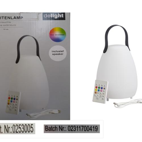 Afbeelding van Waarschuwing: Ledlamp Delight kan oververhit raken