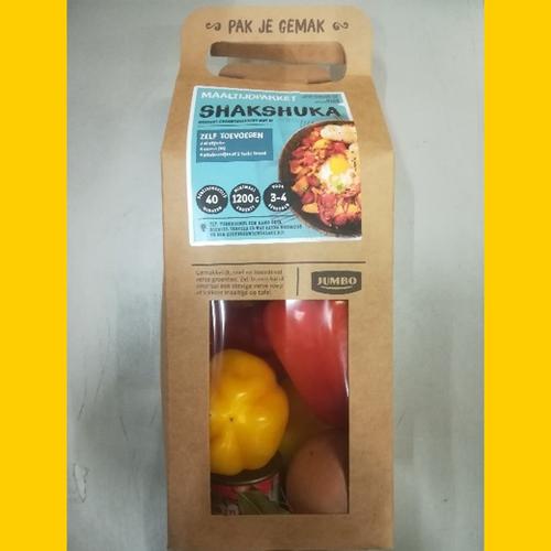 Afbeelding van Productwaarschuwing: Maaltijdpakket Shakshuka van de Jumbo