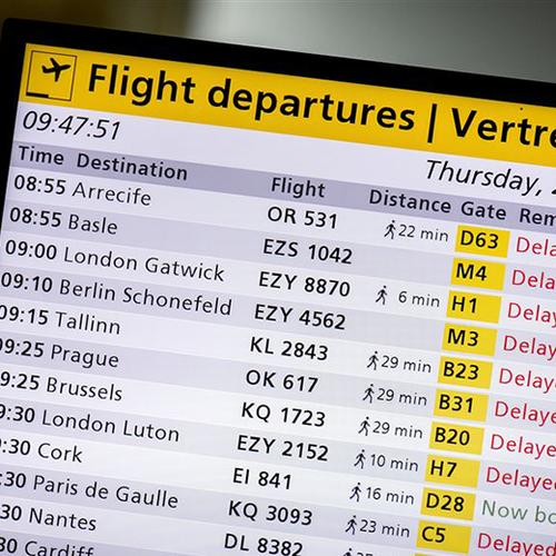Afbeelding van Circa 80 vluchten geannuleerd door staking