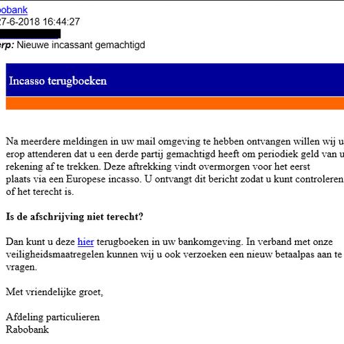 Afbeelding van Rabobank waarschuwt: valse e-mails in omloop