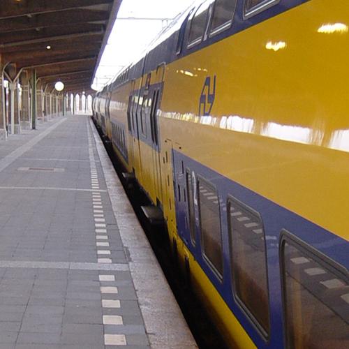 Afbeelding van Reiziger krijgt reclame in de trein